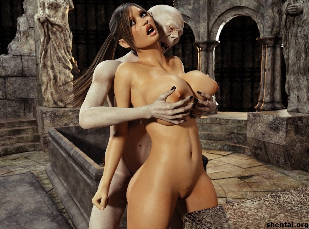 Tomb rider hentai monster erotic scene