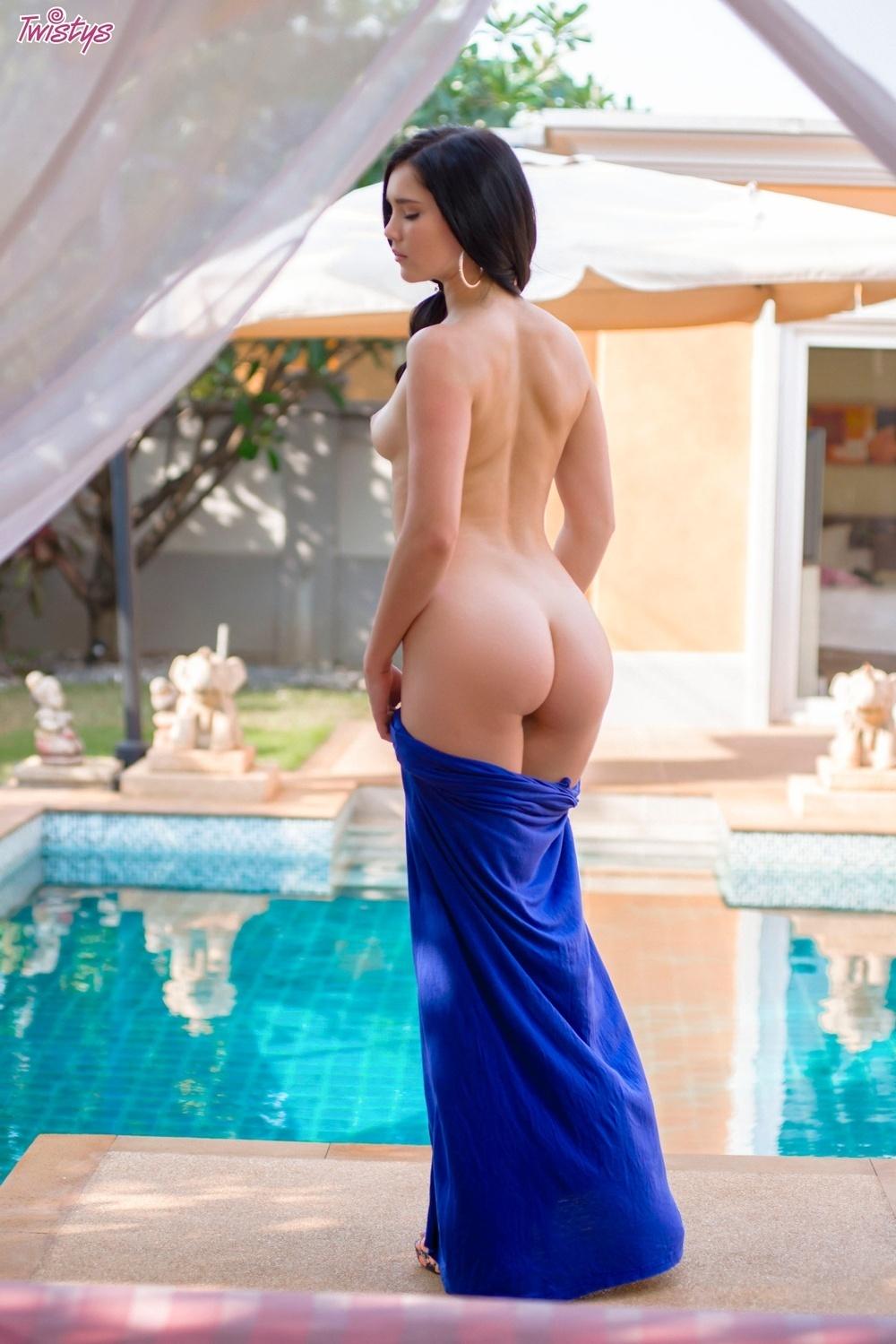 Twistys: Malena in Sexy Blue Dress