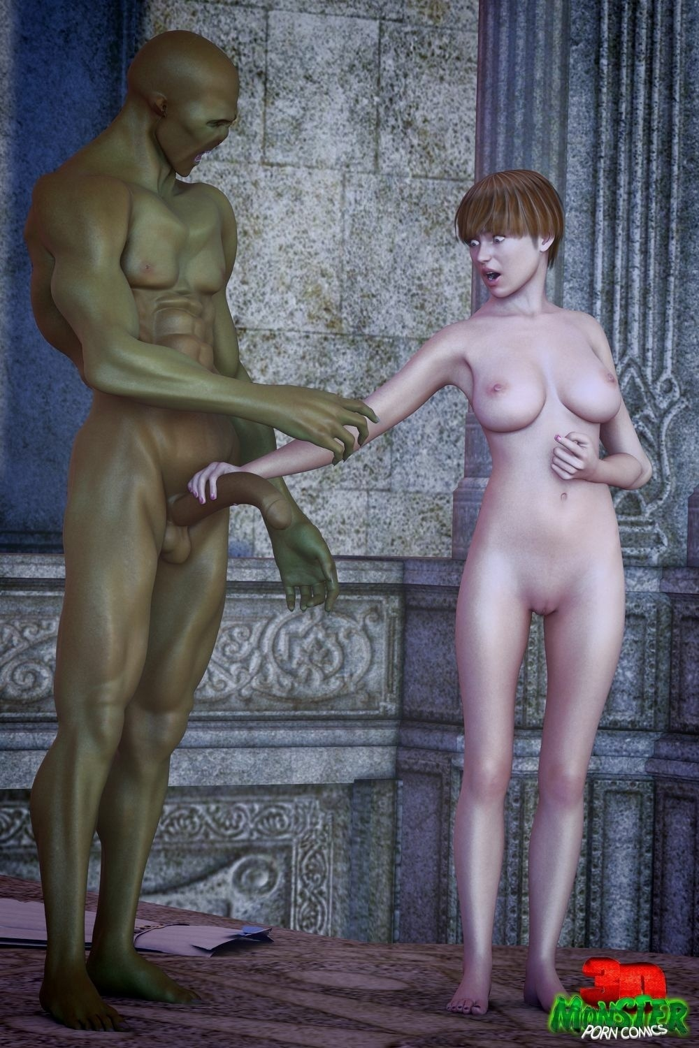 3DMonsterPornComics-Girl and Green Goblin