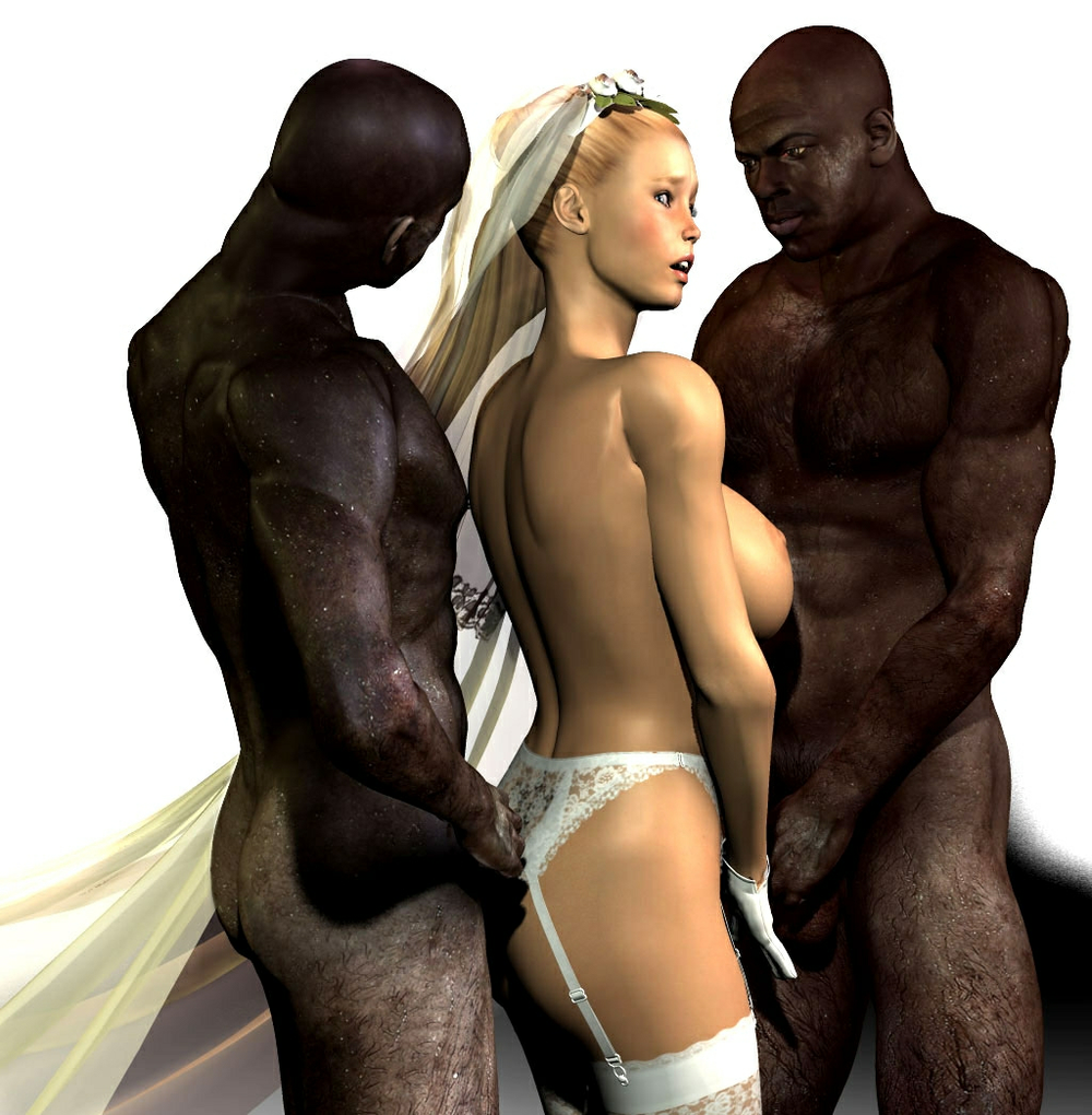 Think, 3d interracial wedding
