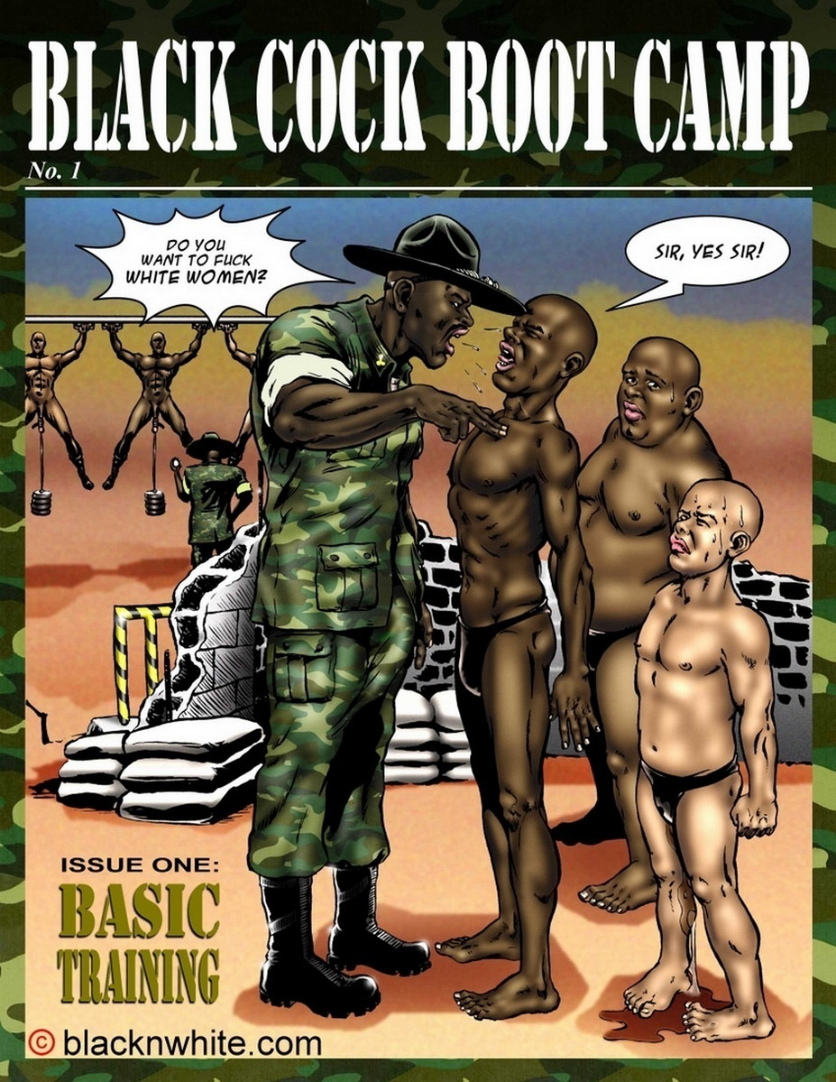 BlackNwhiteComics – Black Cock Boot Camp