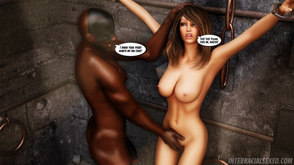 InterracialSex3D – White Pussy Dungeon