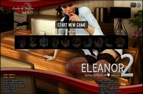 Lesson Of Passion – Eleanor 2 – Version 1.21 + Cheats