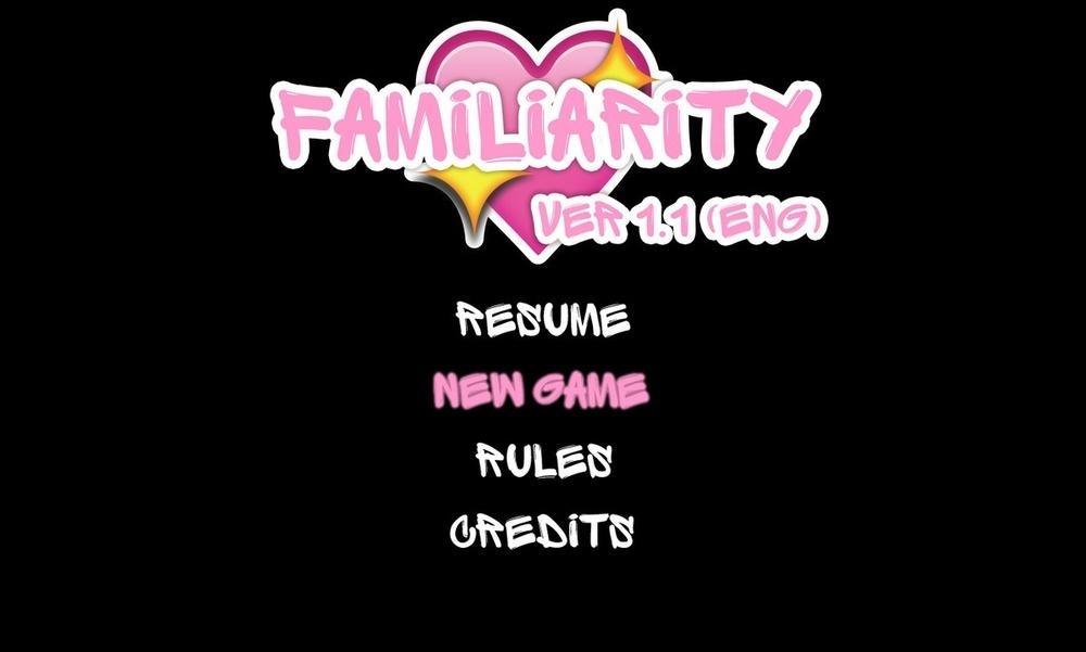 Familiarity – Version 1.1