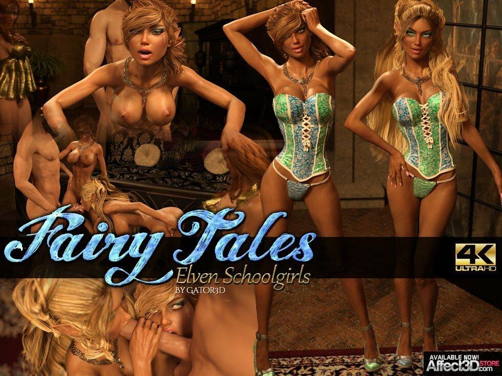 Gator3d – Fairy Tales – Elven Schoolgirls