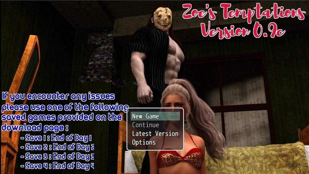 Zoe's Temptations – Version 0.9c – Update