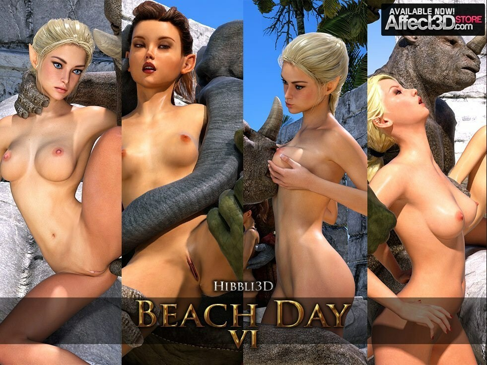 Hibbli3D – Beach Day Part 6