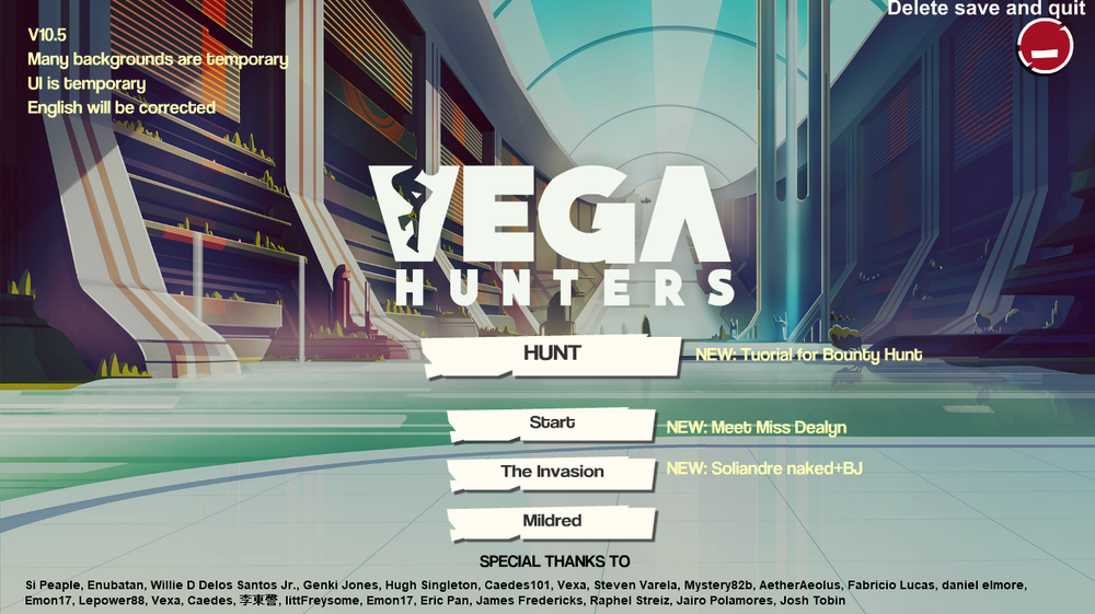 Vega Hunters – Version 10.5 – Update