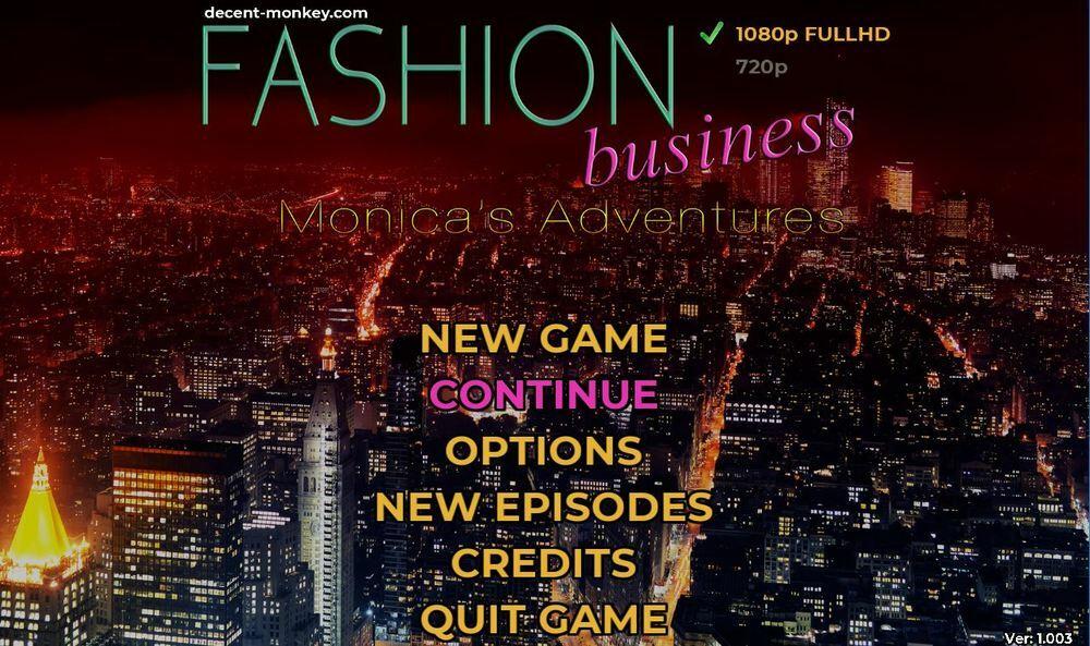 Fashion Business: Monica's Adventures – Version 1.004